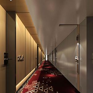 現代風格走廊模型
