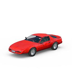 3d紅色兩門<font class='myIsRed'>跑車</font>模型