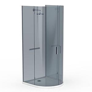 時尚圓形淋浴室模型