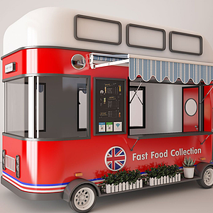 快餐車模型