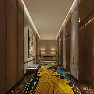 現代電梯廳模型