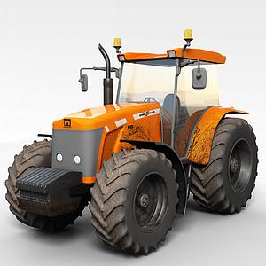 工地大型拖拉機模型