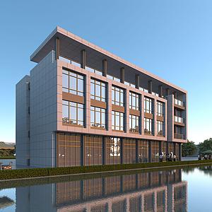 現代現代辦公樓模型