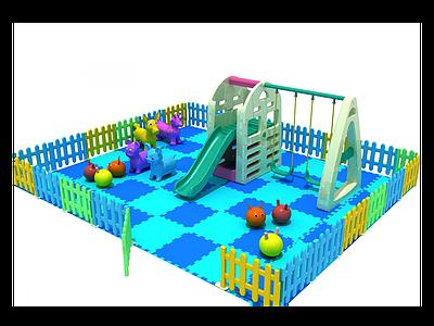 3d塑料小滑梯模型