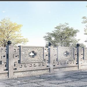 古建欄桿模型