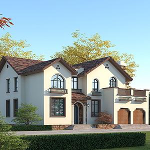 地中海別墅模型