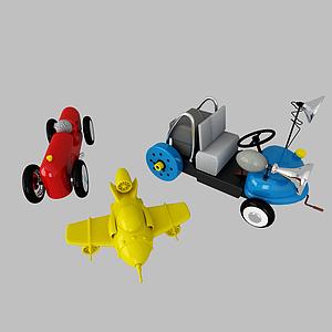 兒童玩具飛機汽車模型