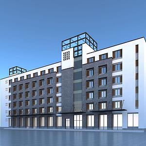 7辦公樓模型