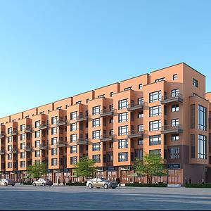 連排住宅樓模型