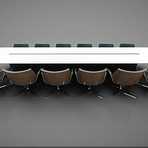 現代風格會議桌模型