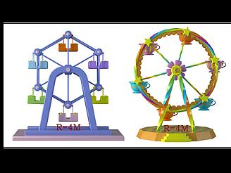 現代摩天輪兒童游樂設施模型