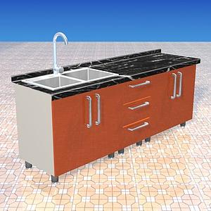 廚房水盆模型