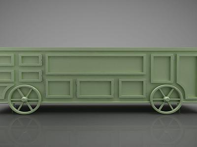 3d現代風格<font class='myIsRed'>火車</font>箱模型