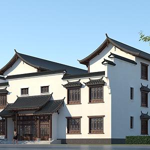 古建四合院模型