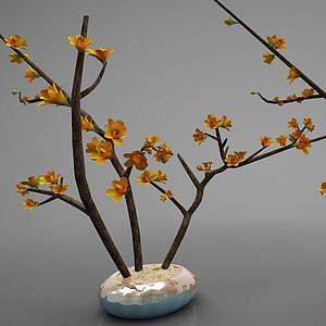 現代風格裝飾花瓶模型