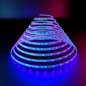 燈帶螺旋擺放模型