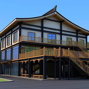 三層鋼構中式房屋模型