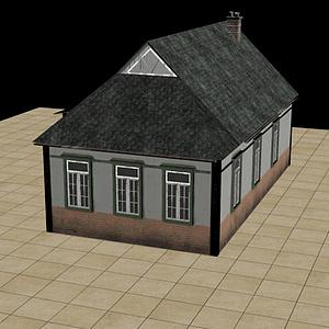 農村房子模型