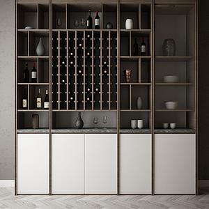 家具飾品裝飾柜組合模型