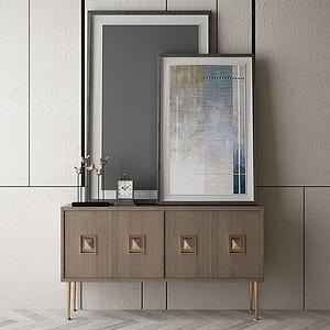 家具飾品玄關組合模型