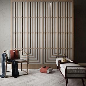 中式裝飾柜模型