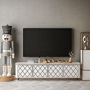 電視背景墻模型