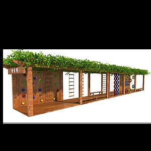 木質葡萄架模型