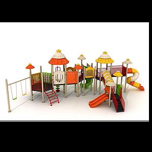 滑梯,游樂設備模型