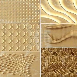 波浪機理墻面造型模型