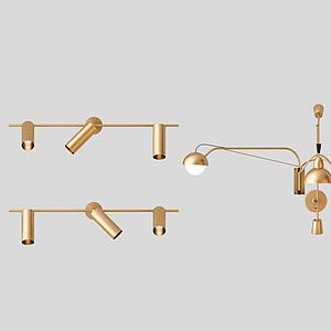 現代創意壁燈模型