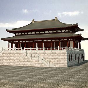 3d大殿模型