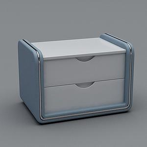 家具飾品組合床頭柜模型