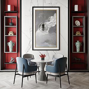 室內餐廳模型