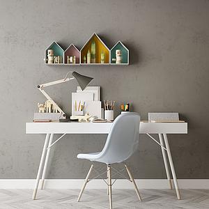 家具寫字臺模型