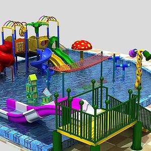 水上樂園,滑梯模型