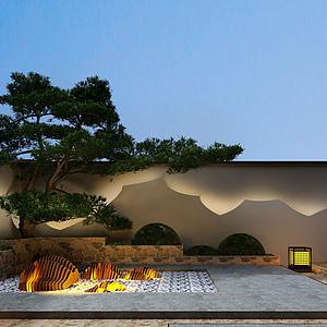 別墅后花園模型