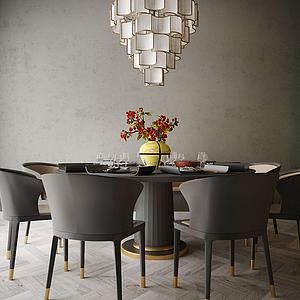 餐廳桌椅模型