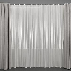 現代風格窗簾模型