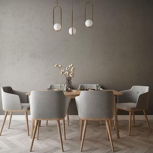 家具餐廳組合模型