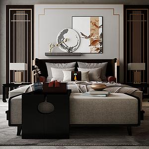 家具飾品床組合模型