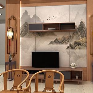 電視背景組合柜模型