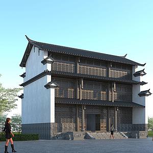 古建寺廟模型