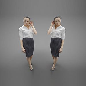 現代風格人物模型