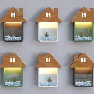 北歐現代兒童壁燈模型