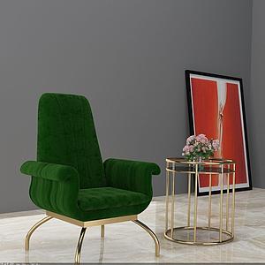 椅子茶幾模型