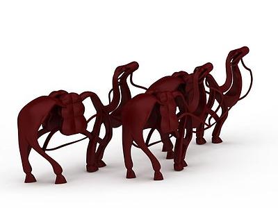 3d<font class='myIsRed'>紅色</font>駱駝雕塑免費模型