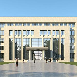 現代辦公樓模型