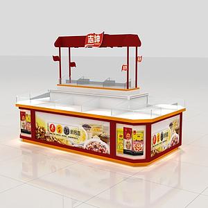 志坤湯粥食品柜模型