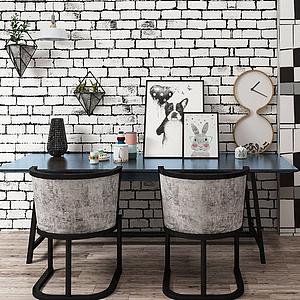 北歐餐桌椅擺件裝飾模型