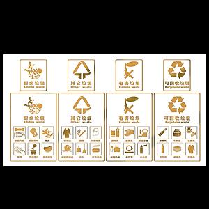 現代垃圾分類LOGO標識模型